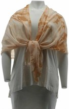 Halston Printed Modal Scarf Copper Sand NEW A275487 - $12.84