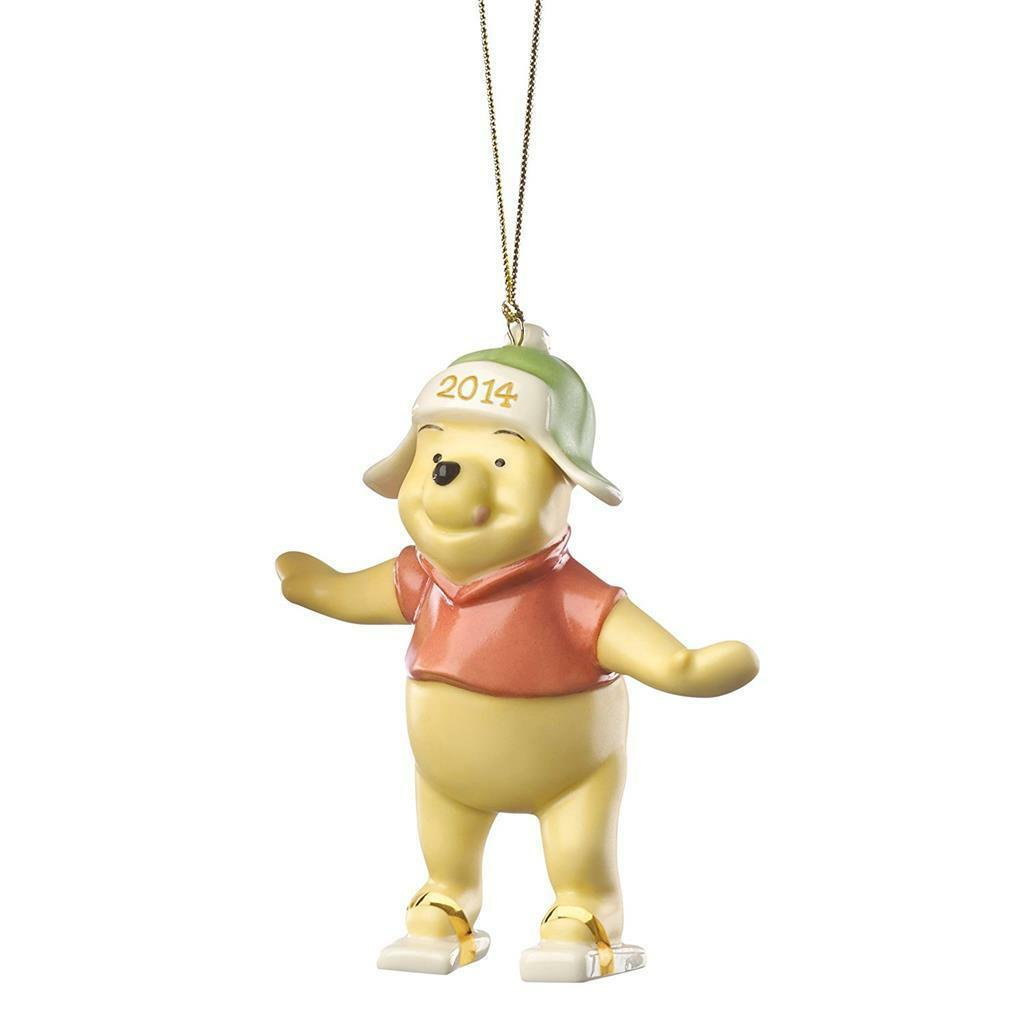 LRG Lenox 2014 Playful Winnie the Pooh Ceramic Collectible Ornament NIB MSRP $60 - $18.99
