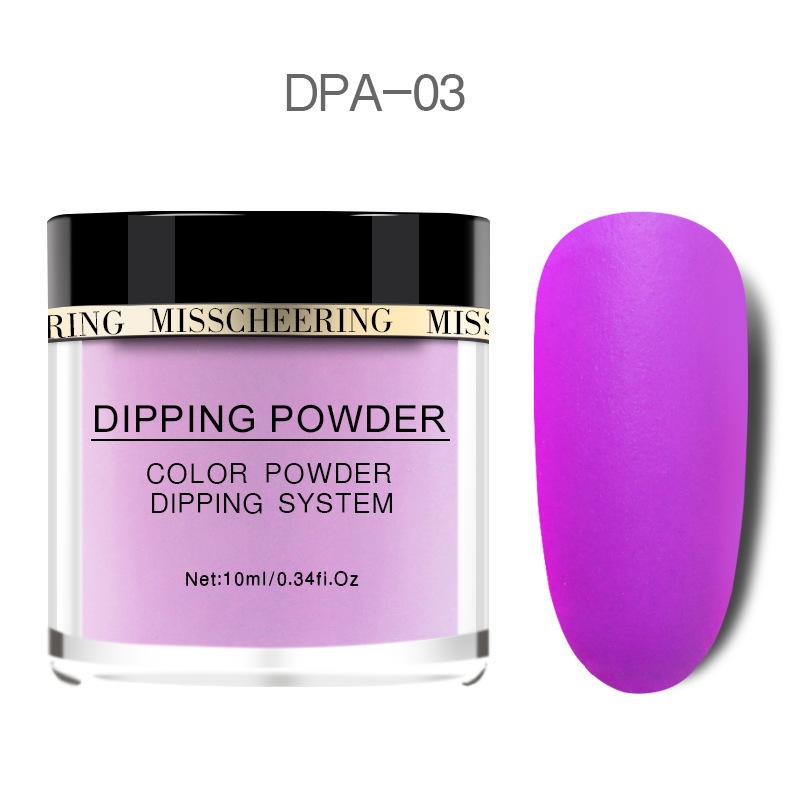 Matte Color Manicure Powder Nail Dipping Powder Nail Art Decorations  03