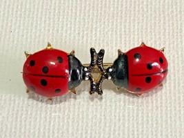 Cute Little Vintage Ladybugs Brooch Pin - $5.94