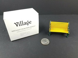 Dept Department 56 Wrought Iron Park Bench Yellow Village Accessories 52302 - $8.92