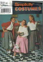 7214 UNCUT Simplicity Sewing Pattern Misses Costume Circle Skirt Poodle ... - $4.89