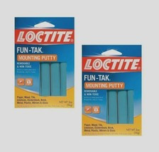 2-2oz LOCTITE FUN-TAK Mounting Putty Reusable Removable Adhesive Sticky ... - $10.37