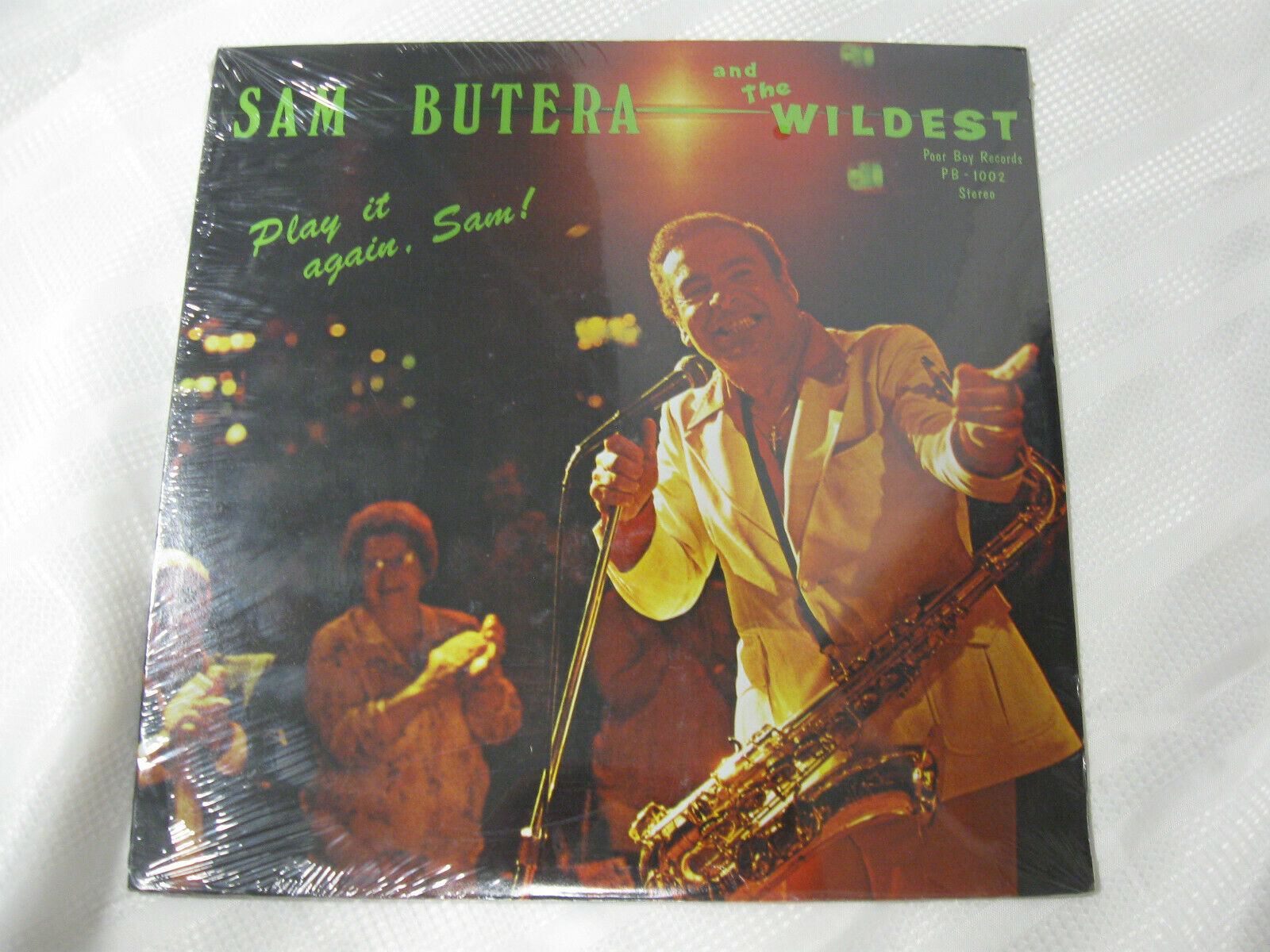 Sam Butera Play It Again Poor Boy PB1002 Vinyl Record Sealed LP SIGNED Cindy
