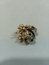 Vintage Jewelry Black Crystal Bee Bug Fly BROOCH PIN Rhinestone Lot F - $8.80