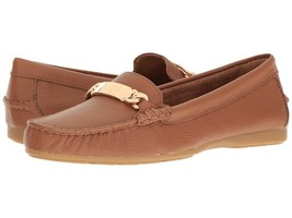 COACH  Olive Saddle Pebble Grain Leather Women's Slip on Shoes Loafers BOBR - $48.39