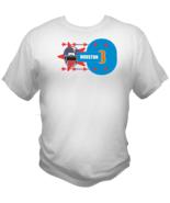 Houston Football Team Sports Style Graphic T Shirt Black Red White L XL 2XL - $19.99