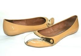 ❤️ JEFFREY CAMPBELL Brass Big Zipper Patent Leather Flats 7 M EXCELLENT!... - $33.24