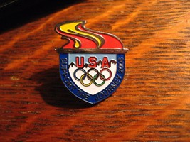 Olympic Torch Lapel Pin - 2006 Visa Credit Card USA Team Olympic Games F... - $19.79
