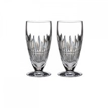 WATERFORD LISMORE DIAMOND PLAT ICED BEVERAGE SET/2 CRYSTAL MADE IN GERRM... - $199.75