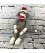 Ozark Mountain Crafts Classic Sock Monkey Plush Stuffed Animal Soft Toy Flaw - $14.84