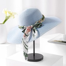 Oeak 2019 Summer Women Bow Ribbon Sun Hat Wide Brim Beach Floppy Straw H... - $9.94