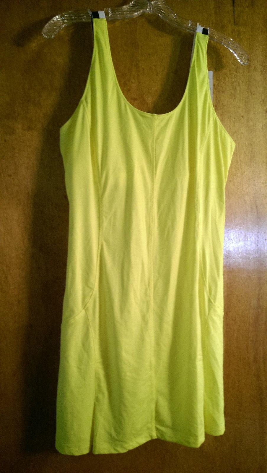 a34122b513e NWT Ladies Womens FILA Bright Yellow TENNIS DRESS - size XL 12 14 16