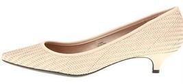 Womens Shoes Isaac Mizrahi GRISEL Pumps Low Heels Light Pink Leather Poi... - $69.95