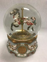 VINTAGE SAN FRANCISCO MUSIC BOX CO. CAROUSEL HORSE GLOBE BY MAUREEN DRDAK - $69.29