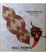 Chili Pepper Moondance Table Runner All Foundation Piecing Quilt Pattern... - $13.99