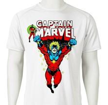 Captain Marvel Dri Fit graphic T-shirt Mar-Vell comic SPF sun shirt active tee image 2