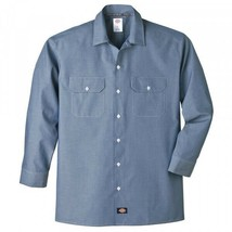 Dickies Classic Men's Long Sleeve Chambray Shirt in Small to 3XL - $27.99