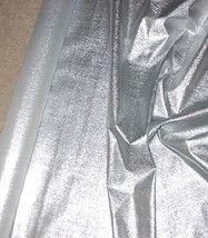 """Metallic Silver Stretch Lame  Fabric 45"""" Wide Sold by the Yard - $9.98"""