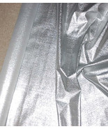 "Metallic Silver Stretch Lame  Fabric 45"" Wide Sold by the Yard - $9.98"