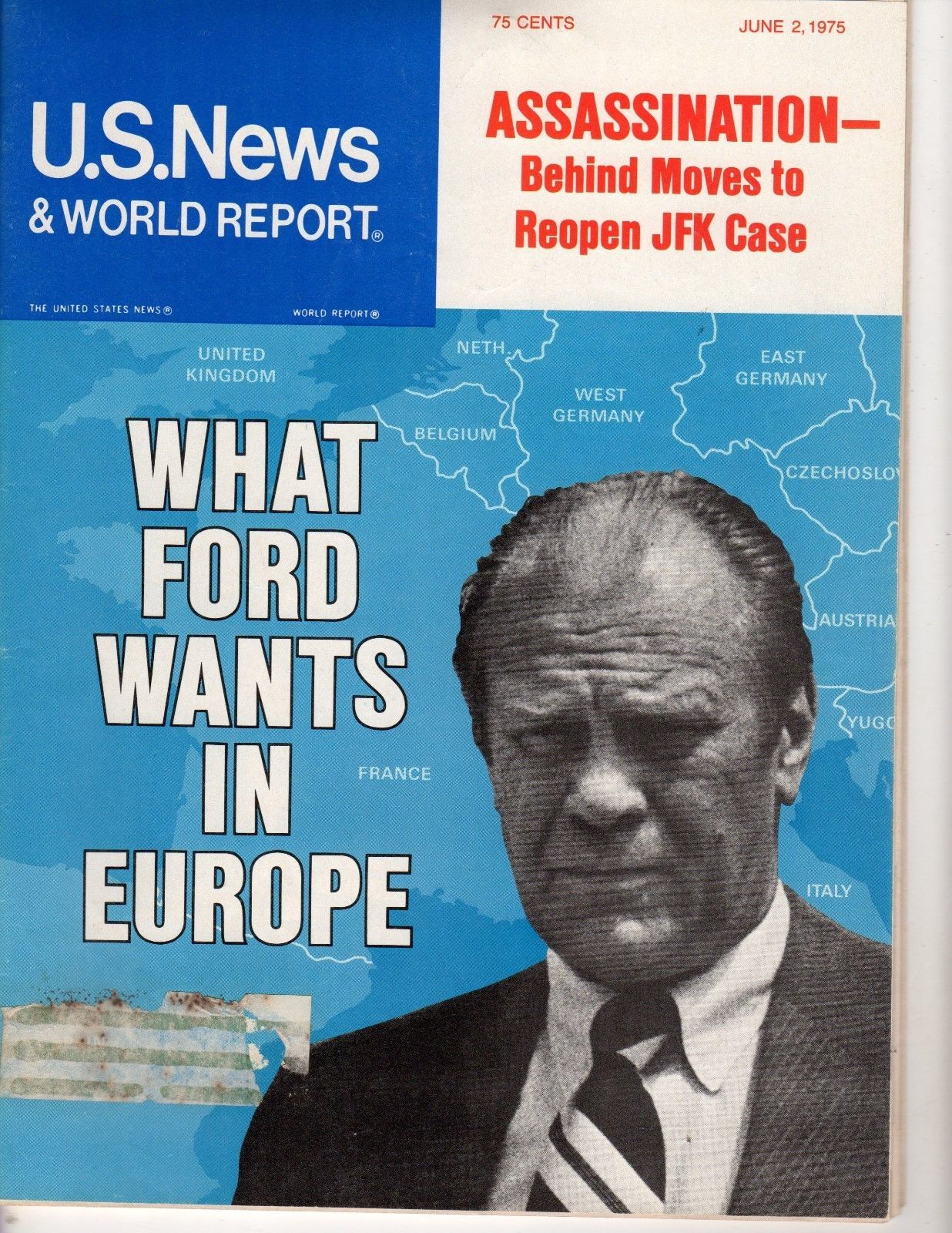 Primary image for U.S. News & World Report June 2, 1975 What Ford Wants in Europe