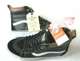 Vans Womens UltraRange Hi MTE Leather All Weather Boots Black White Size 9 NWT - $84.15