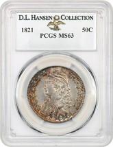1821 50c PCGS MS63 ex: D.L. Hansen - Lustrous! - Bust Half Dollar - Lust... - $4,908.20