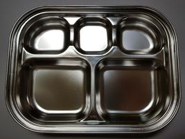 SuCompany Kids Lunch Box Airtight Stainless Steel Food Container Table Plate image 6