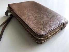 Coach Signature Double Corner Zip Leather Wallet Brown/saddle F87590 - $79.20