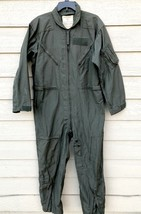 VINTAGE 1980 US AIR FORCE NOMEX FIRE RESISTANT FLIGHT SUIT GREEN CWU-27/... - $99.00