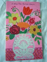 Vintage A Wish For Better Health Floral Mod Card 1960s - $2.99