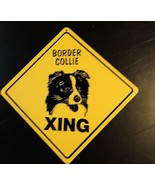 Large Crossing Funny Novelty Xing Sign dog Border Collie - $13.85