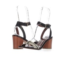 Cole Haan Cambon Ankle Strap Dress Sandals, Black/Roccia, 7.5 US Display - $67.19