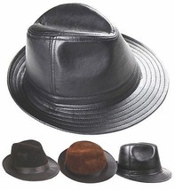 New Men's 100% Real Leather Bucket Cap / Gentleman Hat *3 Color - $20.59