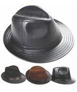 New Men's 100% Real Leather Bucket Cap / Gentleman Hat *3 Color - $20.59