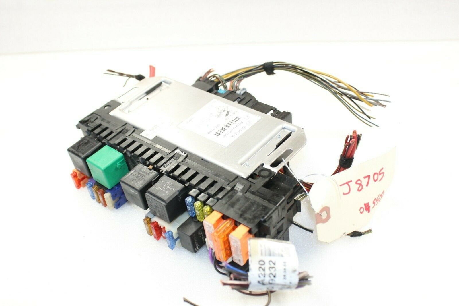 Primary image for 2003-06 MERCEDES W220 S500 S430 FRONT RIGHT FUSE RELAY SAM CONTROL MODULE J8705