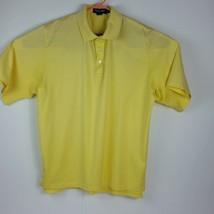 Polo Golf Ralph Lauren XL yellow golf three button polo golf polo on but... - $7.99