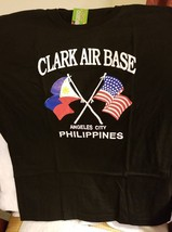 OLD VTG Clark Air Base-Angeles City Philippines on a 2XL Black tee shirt - $25.00