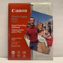 """NEW Canon Inkjet Photo Paper Plus Glossy 20 Sheets 8.5"""" x 11"""" - $15.99"""