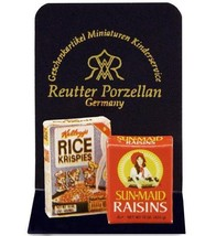 DOLLHOUSE Breakfast Cereal & Raisins Reutter 1.971/0 Box Miniature - $3.76