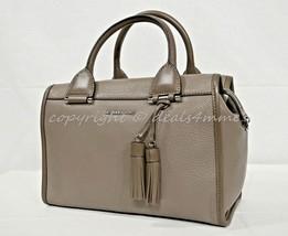 NWT Michael Kors Geneva Large Leather Satchel/Shoulder Bag in Cinder - Gray - $249.00