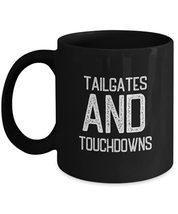 Cool Soccer Mug Tailgates And Touchdowns Novelty Coffee Mug for Players Coach Me - $16.78