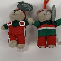 "Christmas Ornaments STARBUCKS 2019 Plush Mini Teddy Bear Girl & Boy 5"" N... - $19.99"