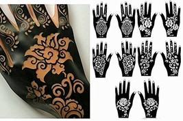Henna Stencil Tattoo 10 Sheets Self-Adhesive Beautiful Body Art Designs - Tempor - $14.92