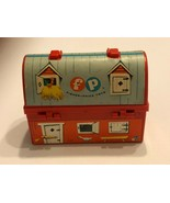 Vintage 1962 Fisher Price Mini Lunch Box w/thermos  Farm Red Barn - $20.00