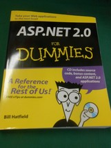 Software Book-- ASP.NET 2.0 for DUMMIES includes CD by Bill Hatfield FRE... - $9.49
