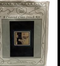 Cross My Heart Little Bucky Kitten Cat on Tree Trunk Cross Stitch Kit Co... - $32.66