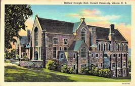 LINEN POSTCARD- WILLARD STRAIGHT HALL, CORNELL UNIVERSITY, ITHACA,NY c.1... - $2.94