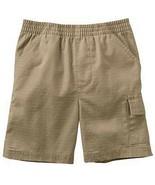 Toddler Jumping Beans Boys Khaki Cargo Pull-On Shorts Elastic Waist Band... - $4.99