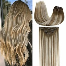 [Limited Discount]LaaVoo 5Pcs Clip in Hair Extensions with Sturdy Clips and Doub